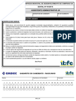 Prova - Assistente Administrativo Jr. - EMDEC 2016