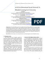 The Development Of An Educational Social Network To Support Blended-Learning In A University