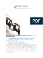Cadena de Mando en La Estructura Organizacional