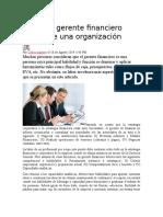 El Rol Del Gerente Financiero Dentro de Una Organización