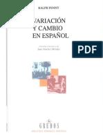 Variacion y Cambio Español