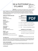 syllabus designphotography