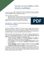 Droit Et Gestion Des Services Publics Et Des Entreprises Publiques