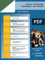 WMT Chennai Event Agenda