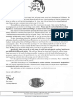 Matt Falconer Letter from Tea Party 3rd Party