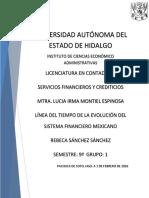 Linea del tiempo del sistema financiero mexicano