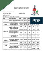 Weekly Curriculum Feb (Wk 1)