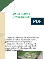 Degradarea polietilenei