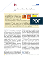 Interfacial Phenomena of Solvent-Diluted Block Copolymers