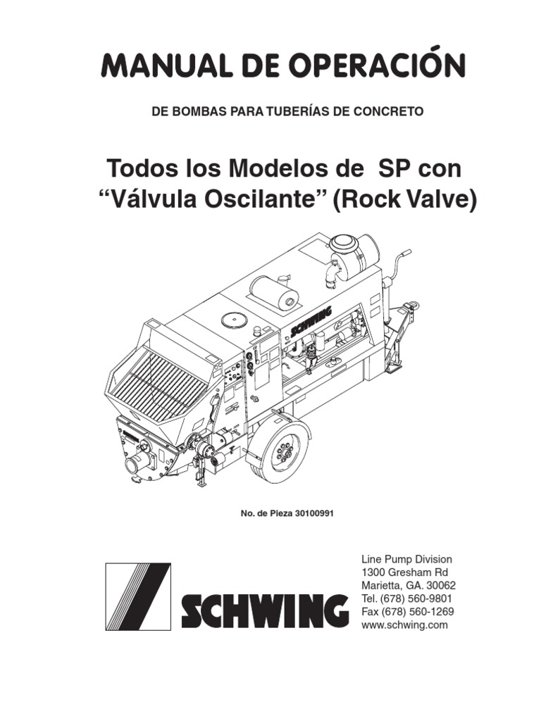 Bomba de Concreto, Manual Del Usuario