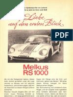 Lothar Wonneberger - Liebe auf den ersten Blick - Melkus RS 1000