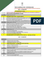 Novo Calendario Academico 2015 - Arapiraca e Sertao