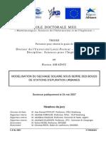 Doctorat  _ Mod+®lisation du s+®chage solaire des boues r+®siduaires urbaines_AMADOU_Haoua_2007