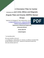 Quaternion-Based Extended Kalman Filter for Determining