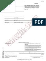 Sample Copy Multiwaybill 95
