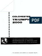 Colchester Triumph 2000 Footbrake Manual