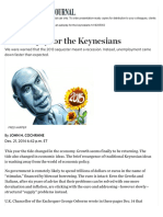 An Autopsy for the Keynesians - WSJ