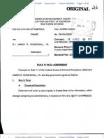James Rosendall Plea Agreement January 2009