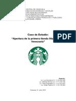 Plan de Negocios 1era. tienda Starbucks en Venezuela