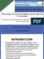 Biotecnología de proteínas recombinantes