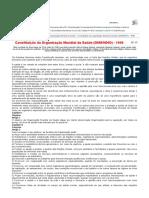 Biblioteca Virtual de Direitos Humanos Da USP - Constituição Da Organização Mundial Da Saúde (OMS_WHO)