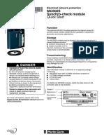 51312294fe-MCS025 Synchro-Check Module Quick Start