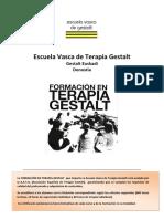 Formacion en Terapia Gestalt