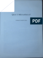 Que é Metafísica - Nota Do Tradutor