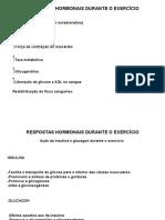RESPOSTAS HORMONAIS DURANTE OS EXERCÍCIOS
