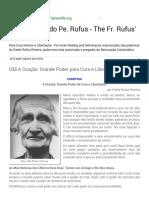 As Palestras Do Pe. Rufus - The Fr. Rufus' 038a Oração Grande Poder Para Cura e Libertação