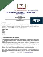 Amor y literatura española