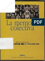 Halbwachs Maurice La Memoria Colectiva