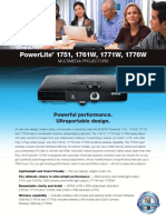 PowerLite 1751 Product Specifications