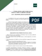 Convocatoria Fsocial Grados 2015-2016