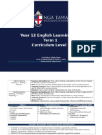 year 12 english learning plan
