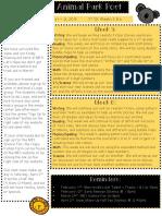 Newsletter Q3 Weeks 5 + 6