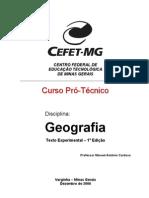 Apostila Geografia CEFET PDF