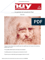 Doce Frases Geniales de Leonardo Da Vinci