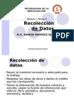 Recolecciòn de Datos