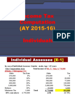 3A Income Tax Computation Individuals AY 2015-16