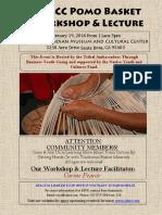 CIMCC Pomo Basket Workshop & Lecture