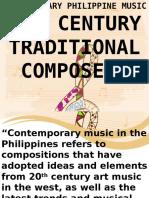 20th Contemporary Filipino Composers