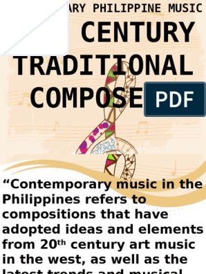 20th Contemporary Filipino Composers | Performing Arts | Classical Music
