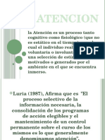 La Atención (PROCESOS BASICOS) Diapositivas