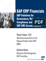 SAP Solutions for Governance Risk and Compliance and GRC Access Control