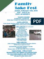 FAMILY FLAKE FEST SCHEDULE, FEB. 6, 2016