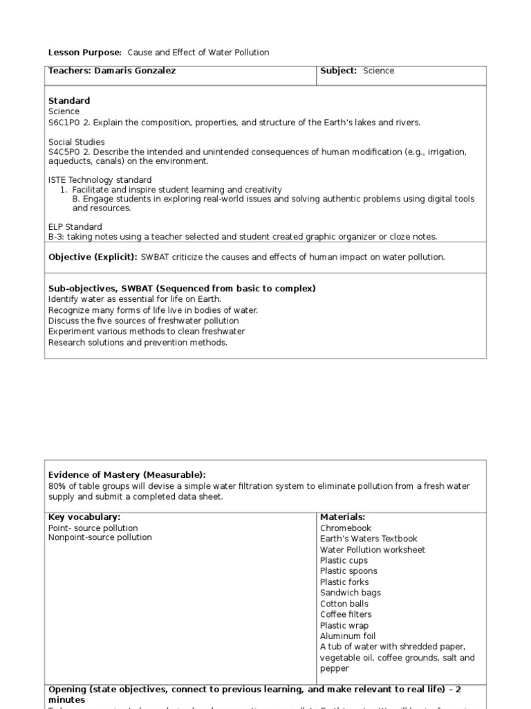 Worksheets Water Pollution Worksheet water pollution pa 2 fresh pollution