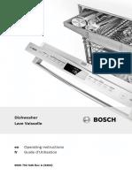 Bosch - Dishwasher Manual | Dishwasher | Kitchen Utensil