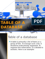6_Tables of a Database