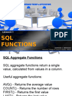 8 SQL Functions